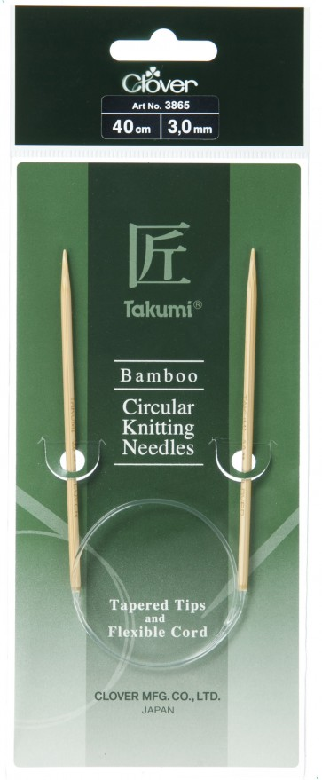 CLOVER Rundstrickndl. Bambus Takumi 40cm/3.00mm