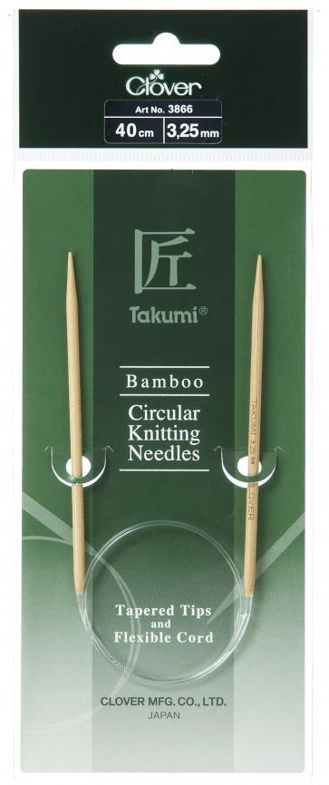 CLOVER Rundstrickndl. Bambus Takumi 40cm/3.25mm