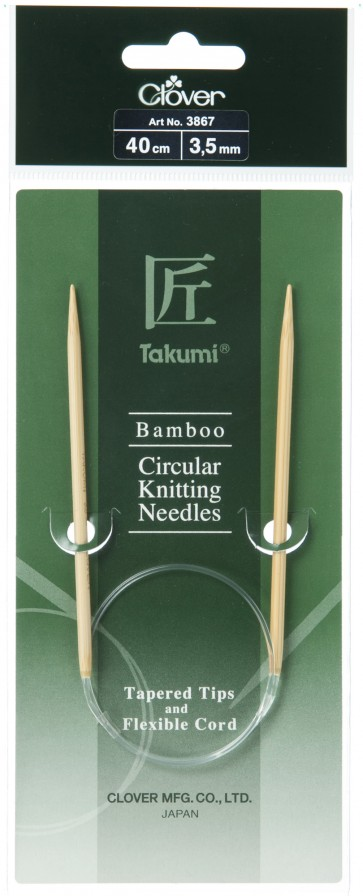 CLOVER Rundstrickndl. Bambus Takumi 40cm/3.50mm
