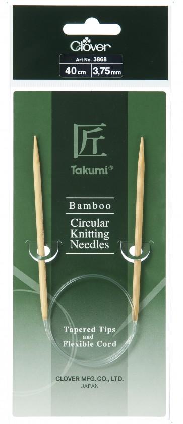 CLOVER Rundstrickndl. Bambus Takumi 40cm/3.75mm