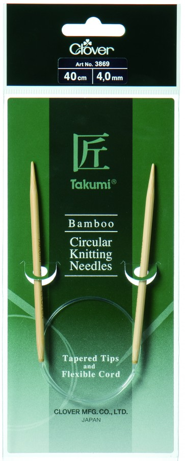 CLOVER Rundstrickndl. Bambus Takumi 40cm/4.00mm