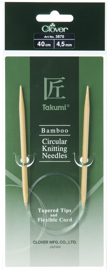 CLOVER Rundstrickndl. Bambus Takumi 40cm/4.50mm