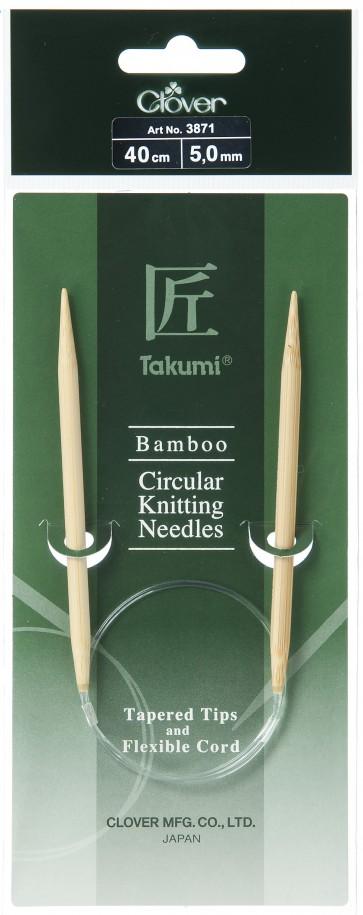 CLOVER Rundstrickndl. Bambus Takumi 40cm/5.00mm