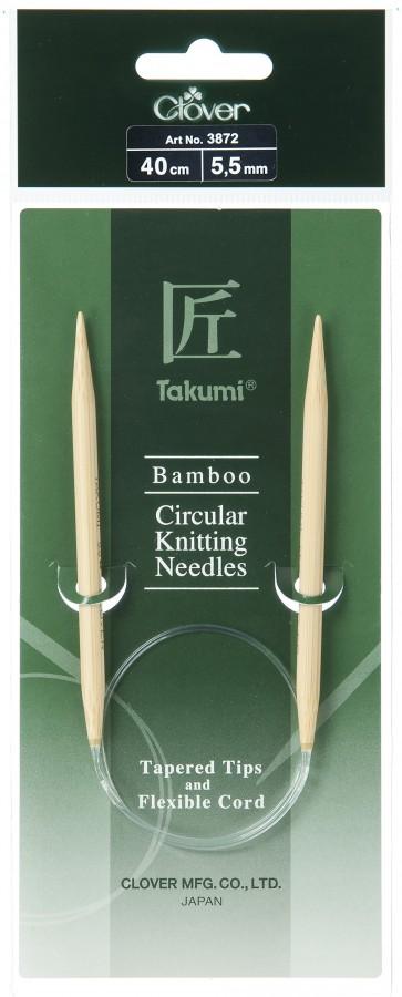 CLOVER Rundstrickndl. Bambus Takumi 40cm/5.50mm