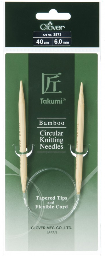 CLOVER Rundstrickndl. Bambus Takumi 40cm/6.00mm