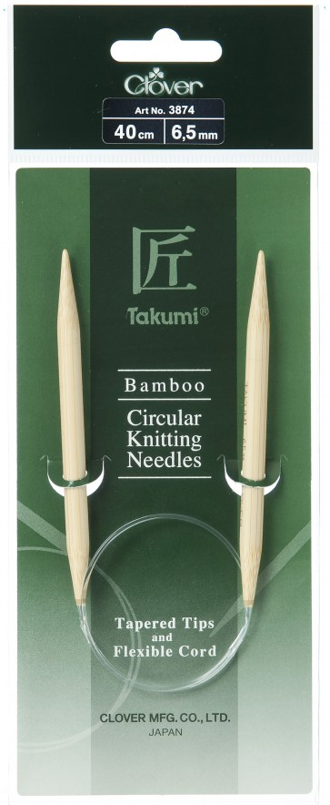 CLOVER Rundstrickndl. Bambus Takumi 40cm/6.50mm