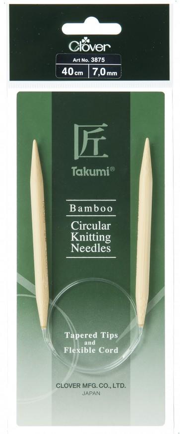 CLOVER Rundstrickndl. Bambus Takumi 40cm/7.00mm