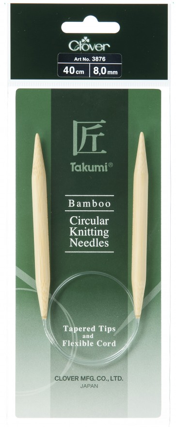 CLOVER Rundstrickndl. Bambus Takumi 40cm/8.00mm