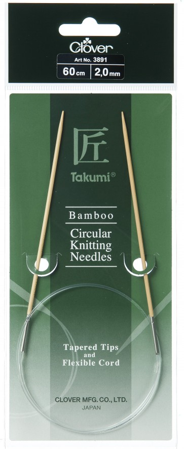 CLOVER Rundstrickndl. Bambus Takumi 60cm/2.00mm