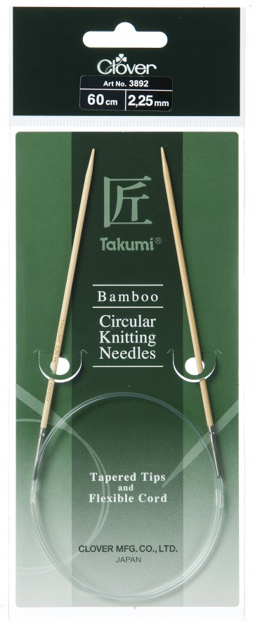 CLOVER Rundstrickndl. Bambus Takumi 60cm/2.25mm