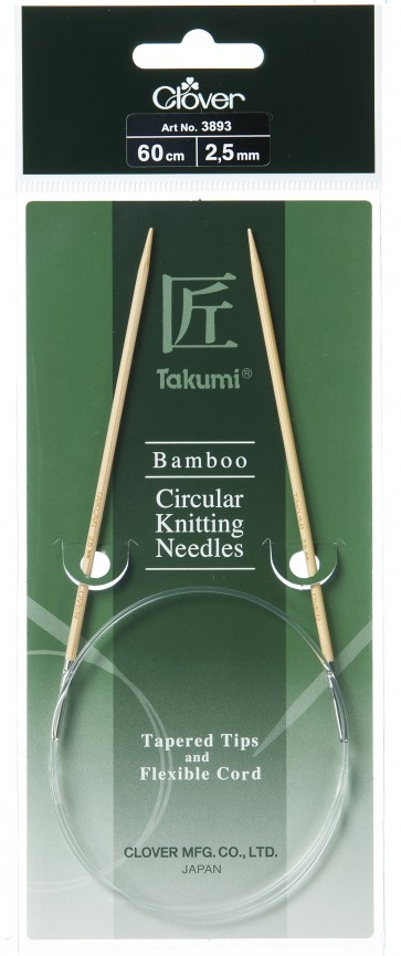CLOVER Rundstrickndl. Bambus Takumi 60cm/2.50mm