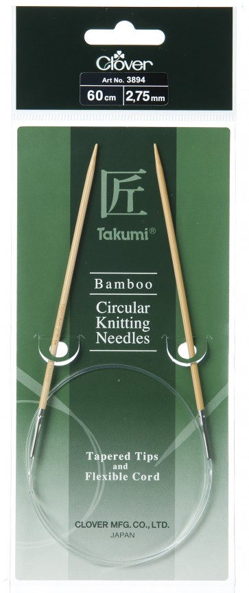 CLOVER Rundstrickndl. Bambus Takumi 60cm/2.75mm