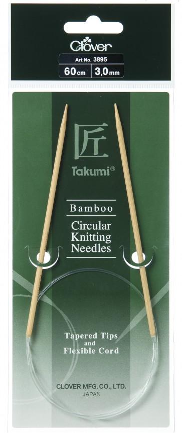 CLOVER Rundstrickndl. Bambus Takumi 60cm/3.00mm