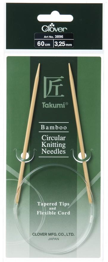 CLOVER Rundstrickndl. Bambus Takumi 60cm/3.25mm
