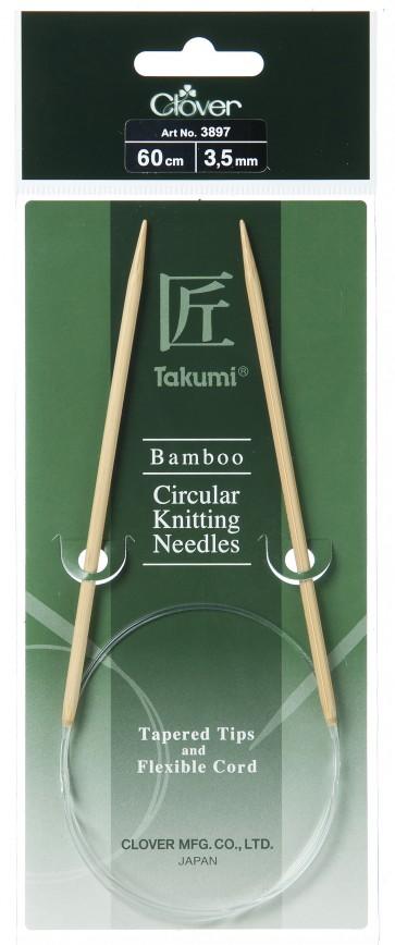 CLOVER Rundstrickndl. Bambus Takumi 60cm/3.50mm