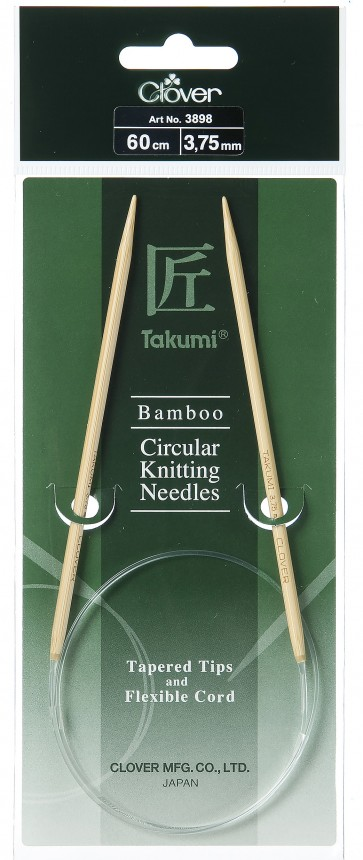 CLOVER Rundstrickndl. Bambus Takumi 60cm/3.75mm