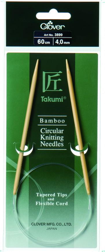 CLOVER Rundstrickndl. Bambus Takumi 60cm/4.00mm