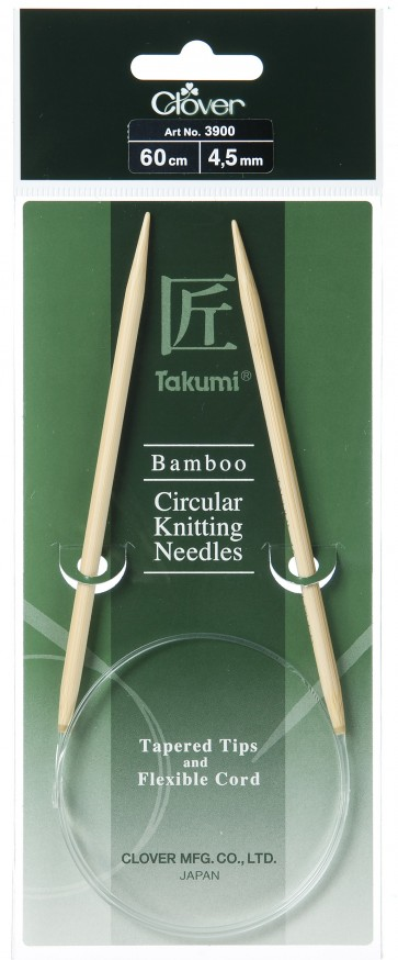 CLOVER Rundstrickndl. Bambus Takumi 60cm/4.50mm