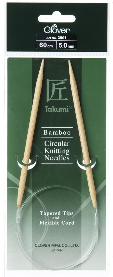 CLOVER Rundstrickndl. Bambus Takumi 60cm/5.00mm