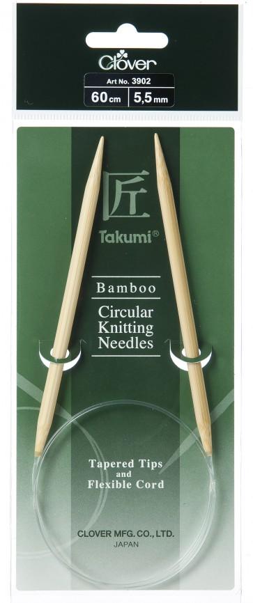 CLOVER Rundstrickndl. Bambus Takumi 60cm/5.50mm
