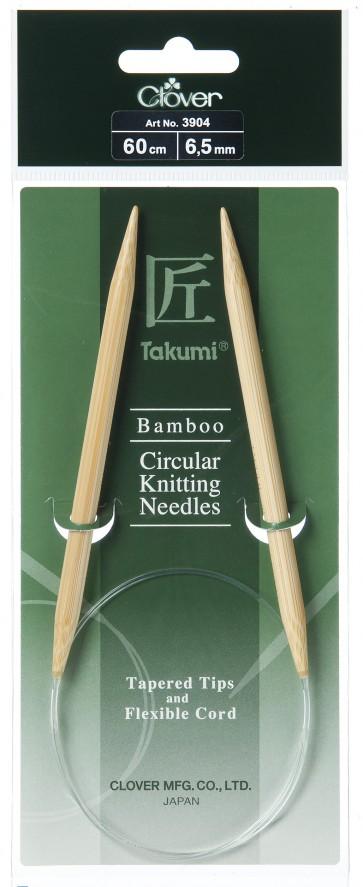 CLOVER Rundstrickndl. Bambus Takumi 60cm/6.50mm