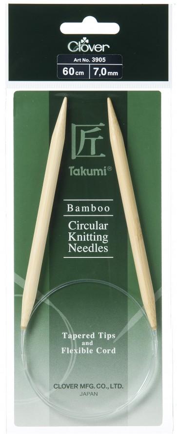 CLOVER Rundstrickndl. Bambus Takumi 60cm/7.00mm