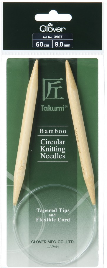 CLOVER Rundstrickndl. Bambus Takumi 60cm/9.00mm