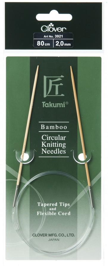 CLOVER Rundstrickndl. Bambus Takumi 80cm/2.00mm