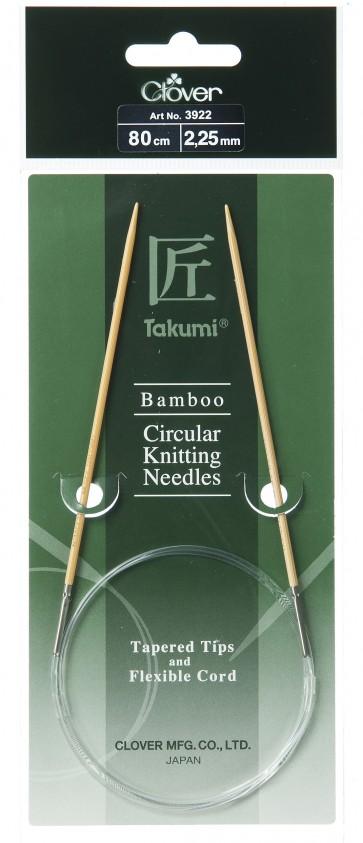 CLOVER Rundstrickndl. Bambus Takumi 80cm/2.25mm