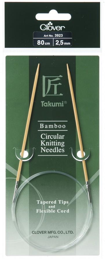 CLOVER Rundstrickndl. Bambus Takumi 80cm/2.50mm