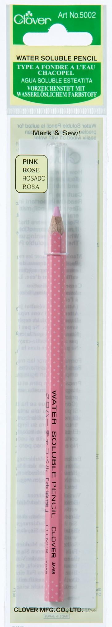CLOVER Vorzeichenstift wasserlöslich rosa