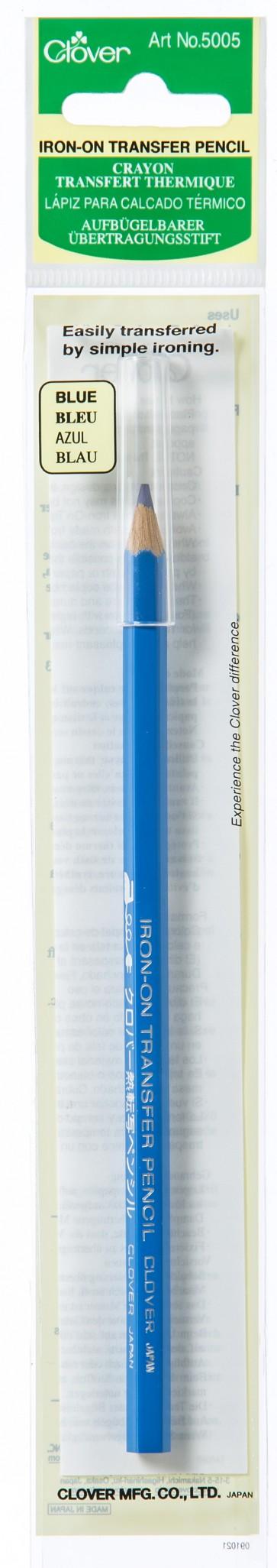 CLOVER Übertragungsstift aufbügelb. blau