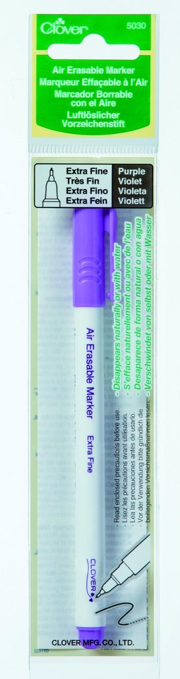 CLOVER luftlöslicher Vorzeichenstift violett extrafein