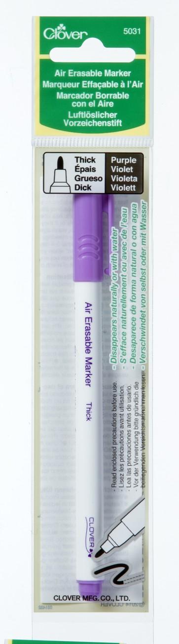 CLOVER luftlösli. Vorzeichenstift violett dick