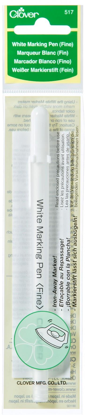 CLOVER weißer Markierstift fein