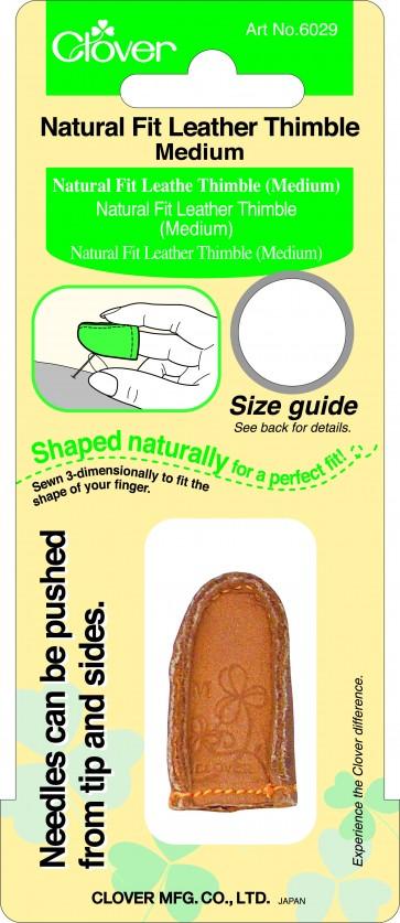 CLOVER Lederfingerhut natürliche Passform mittel