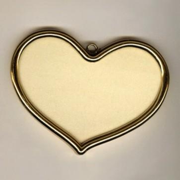 Goldrahmen Herz         8x6cm