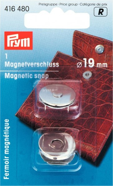 P/SB Magnetverschluß 19mm silberfbg