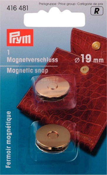 P/SB Magnetverschluß 19mm goldfbg