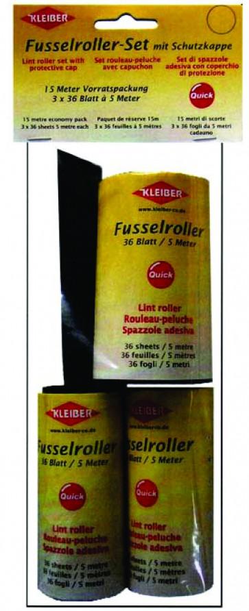 Fusselroller-Set (3x36 Blatt a 5m)