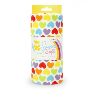 Kullaloo 1,5 mm SHORTY Prints, rainbow love hearts