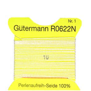 GÜTERMANN Aufreihseide ws; Gr.1/2m#
