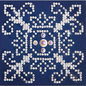 DIAMOND DOTZ Weiß auf Blau 10.2 x 10.2 cm  (3 St)