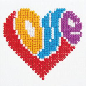 DIAMOND DOTZ Love 10.2 x 10.2 cm  (3 St)