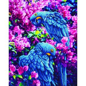 DIAMOND DOTZ Blue Parrots 42x52 cm