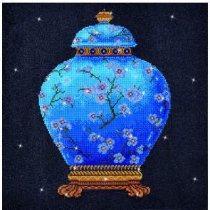DIAMOND DOTZ Blue Vase blau 52x52 cm