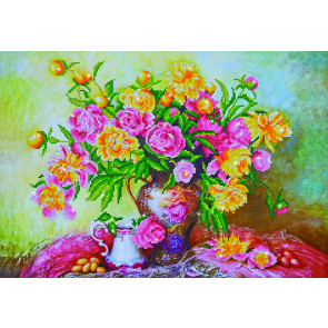 DIAMOND DOTZ Elegant Roses 67x47 cm