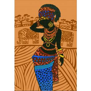 DIAMOND DOTZ Afrikanische Prinzessin 52x76 cm