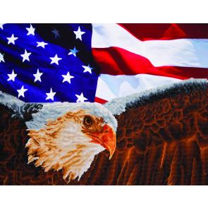 DIAMOND DOTZ Bald Eagle & Flag 71,12x55,9 cm