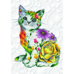DIAMOND DOTZ Flower Puss 55x78 cm